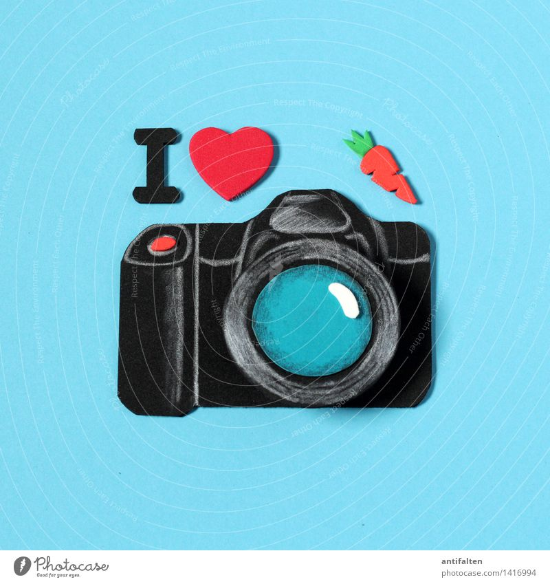 Red Joy Black Design Leisure and hobbies Characters Happiness Heart Photography Sign Camera Turquoise I Enthusiasm False Handicraft