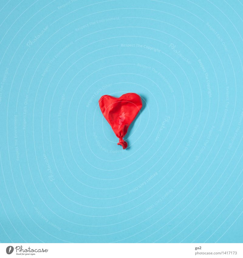 Blue Colour Red Love Healthy Health care Esthetic Heart Simple Transience Sign Balloon Illness End Infatuation Divide