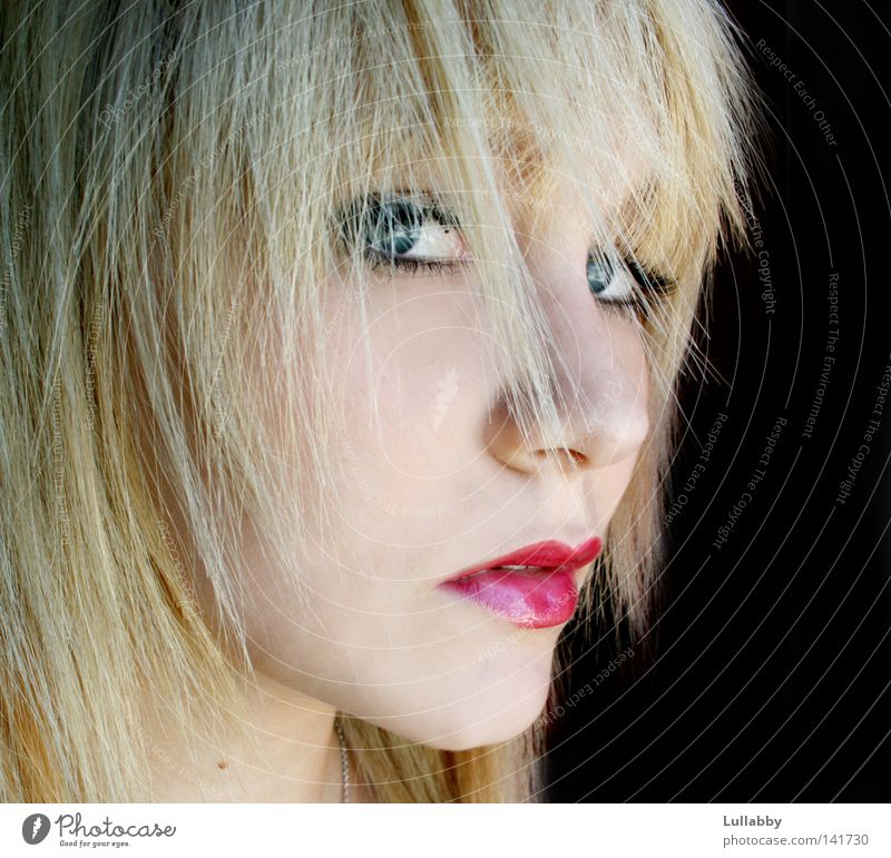 Woman Blue Face Eyes Hair and hairstyles Mouth Blonde Nose Lips