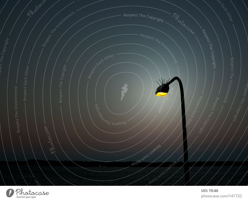 Sky Water Ocean Calm Loneliness Dark Air Coast Lamp Horizon Background picture Things Longing Lantern Seagull Baltic Sea
