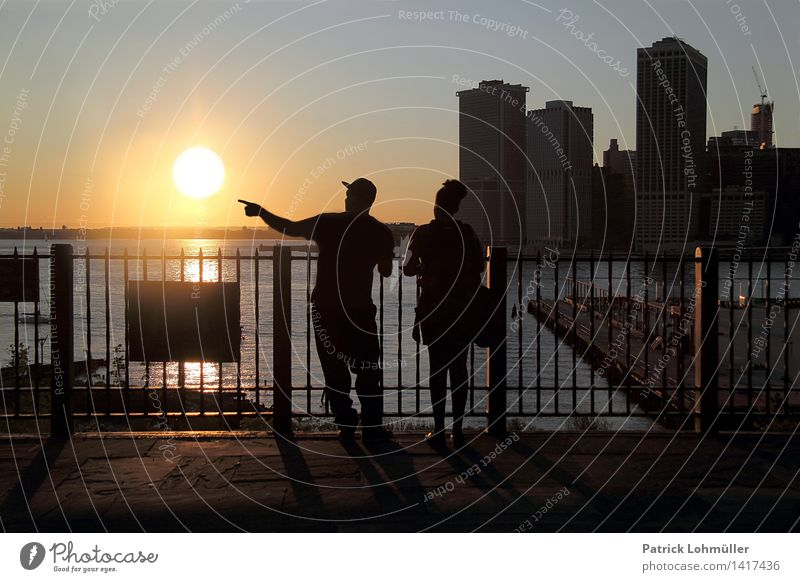 Human being Woman Vacation & Travel Man City Summer Water Sun Landscape Adults Environment Architecture Building Couple Friendship Horizon