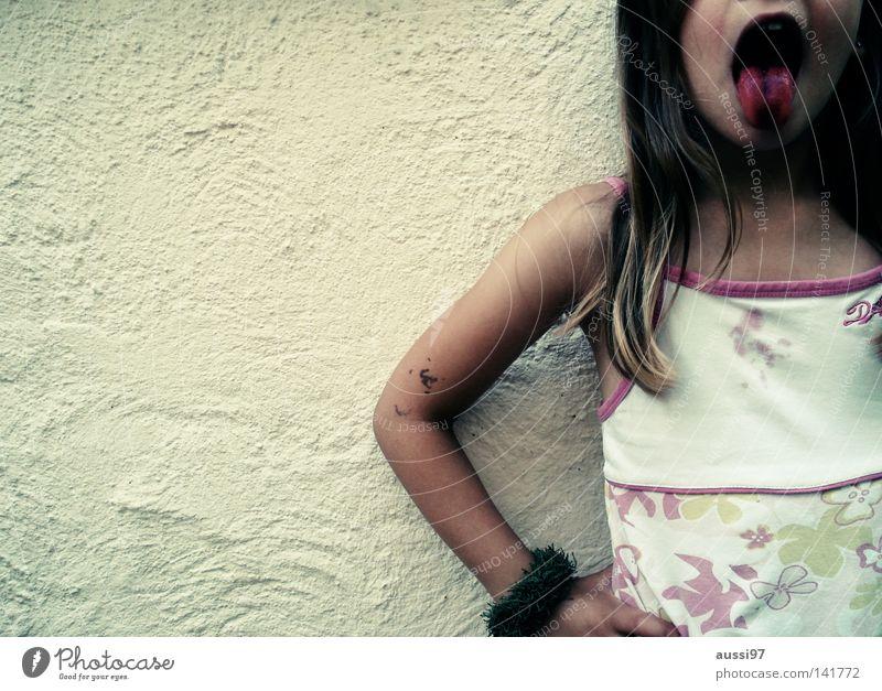 Child Joy Colour Girl Dye Ice Brash Patch Tongue Placed Raspberry Daub Berries Mouth Dish Thusnelda