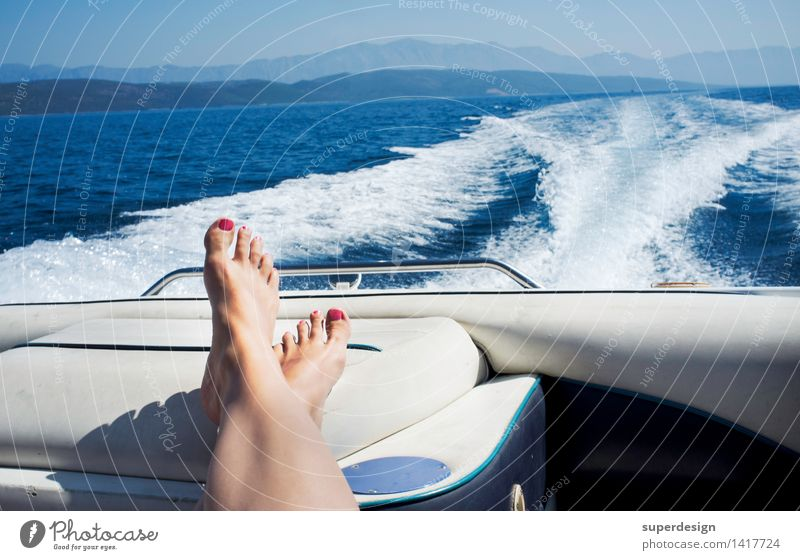 Vacation & Travel Summer Sun Ocean Relaxation Joy Far-off places Beach Adults Life Happy Legs Freedom Feet Horizon Contentment