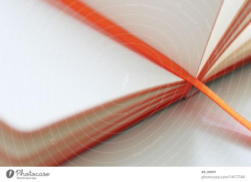 White Calm School Bright Orange Design Leisure and hobbies Esthetic Empty Creativity Beginning Book Paper Reading Education Write