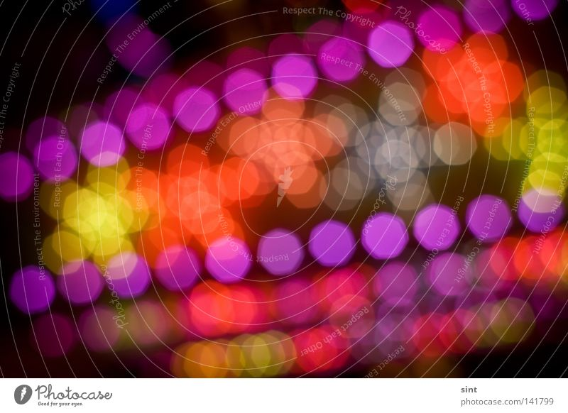 diskoglitzer Joy Luxury Abstract Set Background picture Structures and shapes Blur Circle circles Colour Multicoloured colors Dark defocus depth Design dots