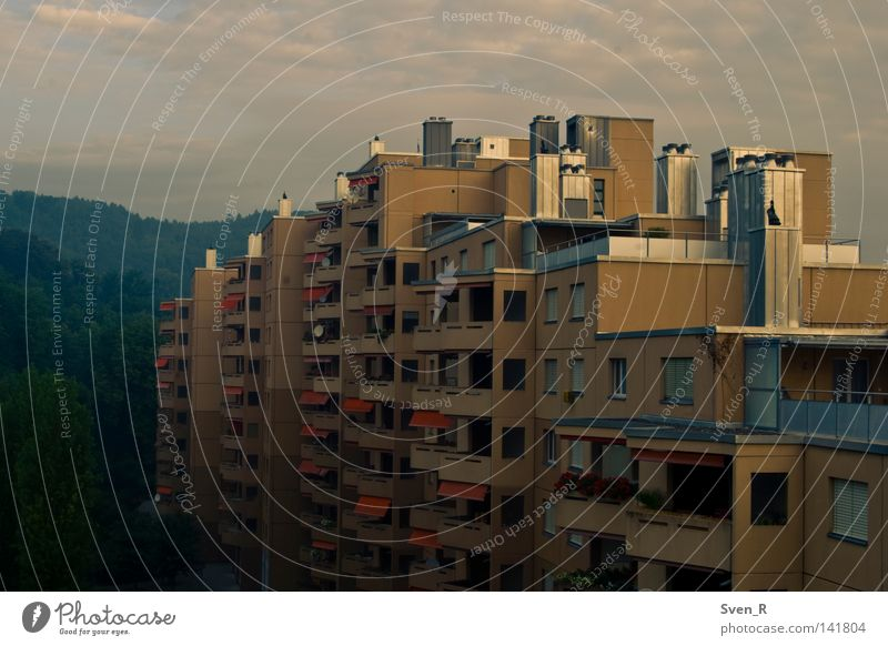 House (Residential Structure) Building Gloomy Europe Tower block Prefab construction Badlands Ghetto Standard