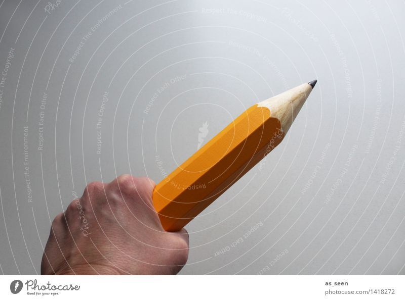 Colour Hand Yellow Wood Power Characters Beginning Creativity Large Culture Sign To hold on Write Media Draw Firm
