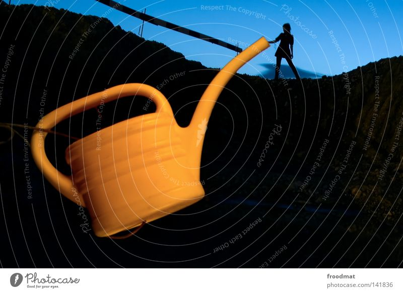 Kanndalös Jug Watering can Dark Silhouette Night Long exposure Shift work Switzerland Funny Growth Project Art Arts and crafts  froodmat Shadow we can