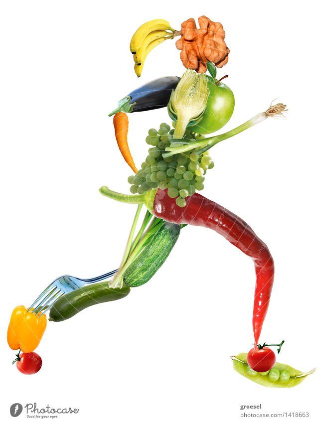Veggie-sprinter-sie Body Jogging Feminine Diet Movement Fitness Sports Esthetic Self-confident Healthy Eating Multicoloured