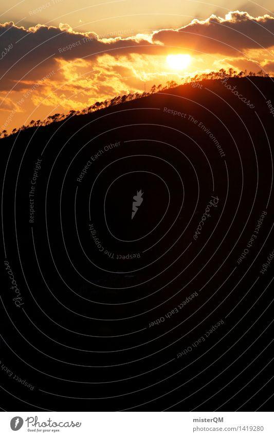 Solstice. Art Esthetic Sun Sunset Sunlight Sunbeam Sunrise Sunbathing Solar Power Energy Warmth Steppe Africa Clouds Far-off places Bright Flashy Illuminate