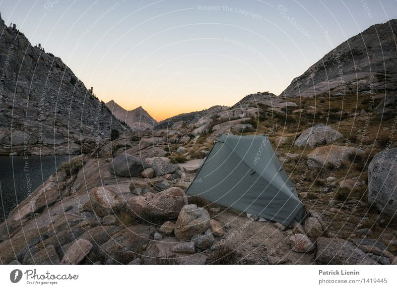 Tent in the mountains Harmonious Well-being Vacation & Travel Trip Adventure Far-off places Freedom Summer Mountain Hiking Environment Nature Elements Earth Sky