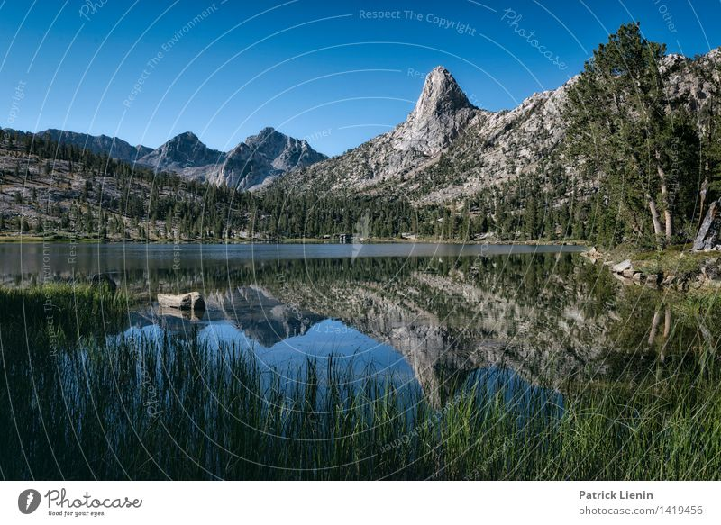 Nature Plant Water Tree Relaxation Landscape Calm Far-off places Mountain Environment Grass Freedom Lake Rock Weather Hiking