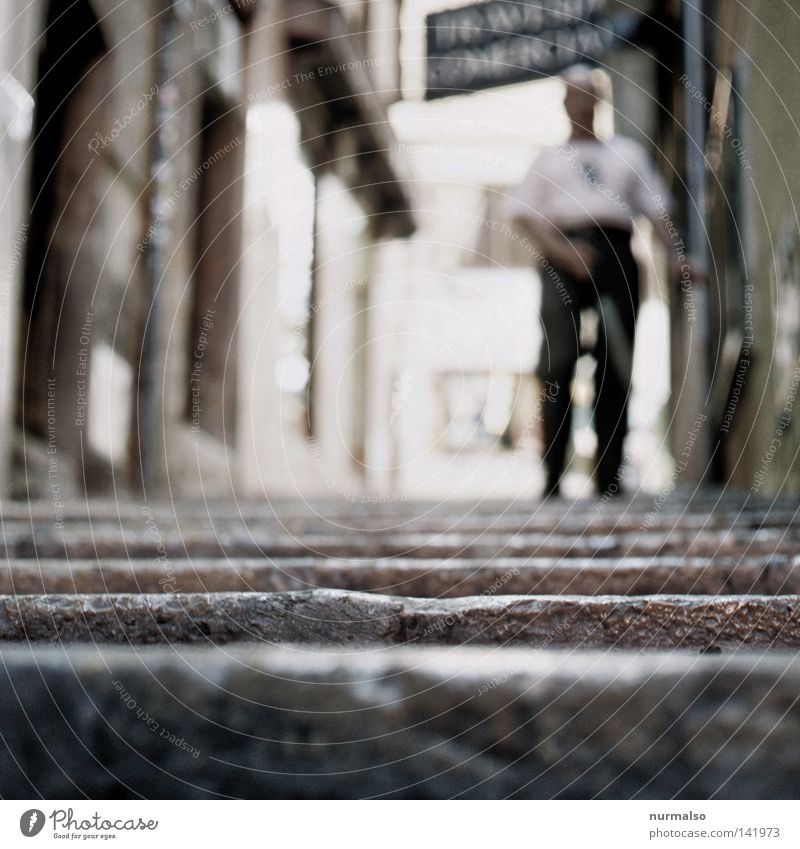 here nothing reflects 2 (for him) Stick Stairs Under Downward Complex Dark Blind Sidewalk Lanes & trails Forwards Going Loneliness Footpath Human being