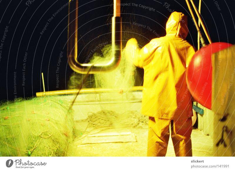 pescador1 Fisherman Weave Throw Night Watercraft Spain Light Ocean Net