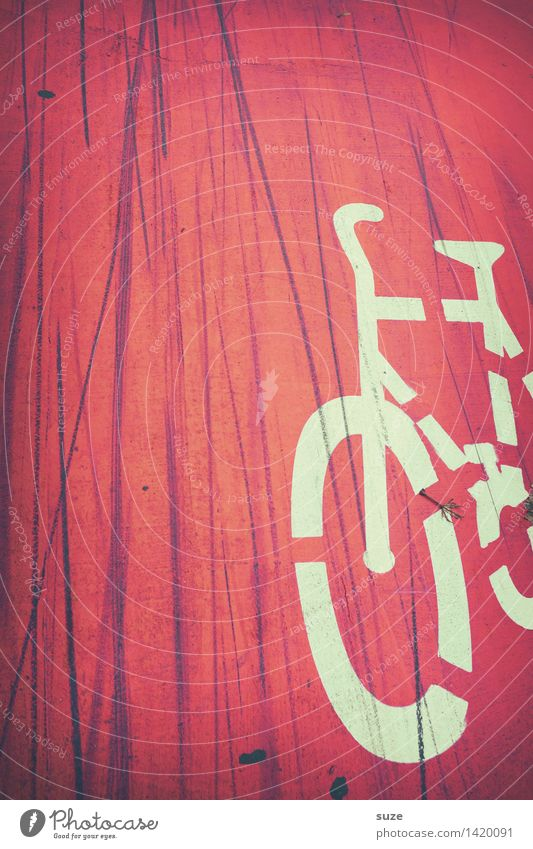 City Red Street Movement Line Dirty Transport Bicycle Signs and labeling Characters Cycling Illustration Stripe Safety Cycling tour