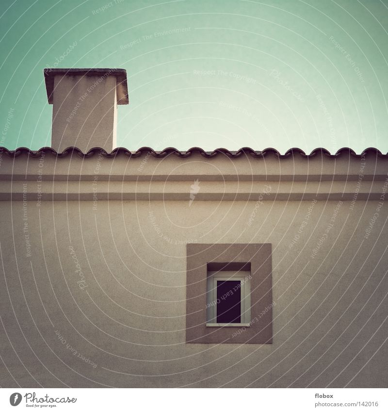 Sky Summer Vacation & Travel House (Residential Structure) Colour Wall (building) Window Gray Building Dirty Flat (apartment) Small Concrete Facade Modern