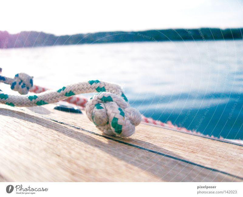 Starnberg calm Sail Account Lake Blue Water Horizon Calm Playing wooden deck
