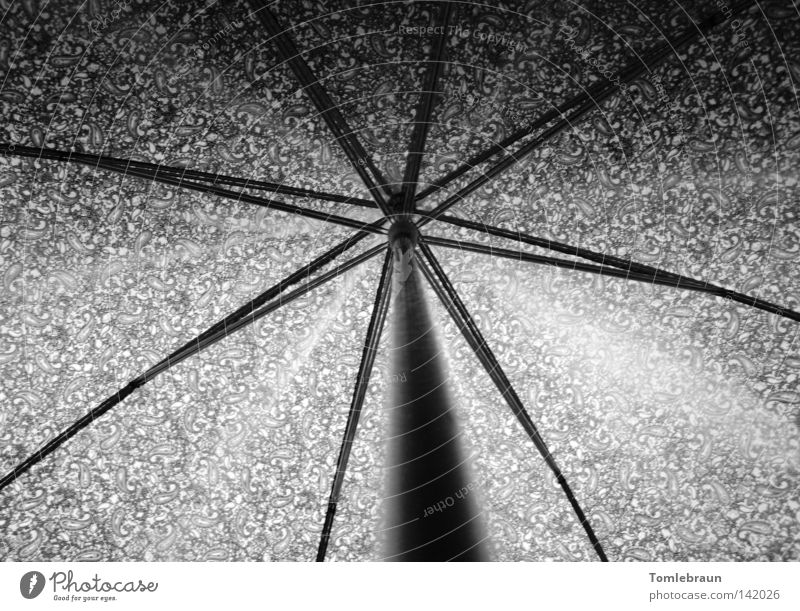 UmBRelLA Umbrella Pattern Shadow Rod Rain Umbrellas & Shades Light Star (Symbol) Art Arts and crafts  Black & white photo Thunder and lightning