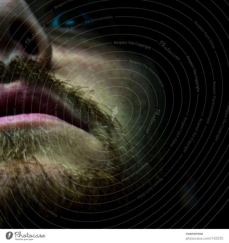 Man Face Eyes Fear Nose Grief Near Lips Frightening Pout Moustache Expression Terror Portrait photograph