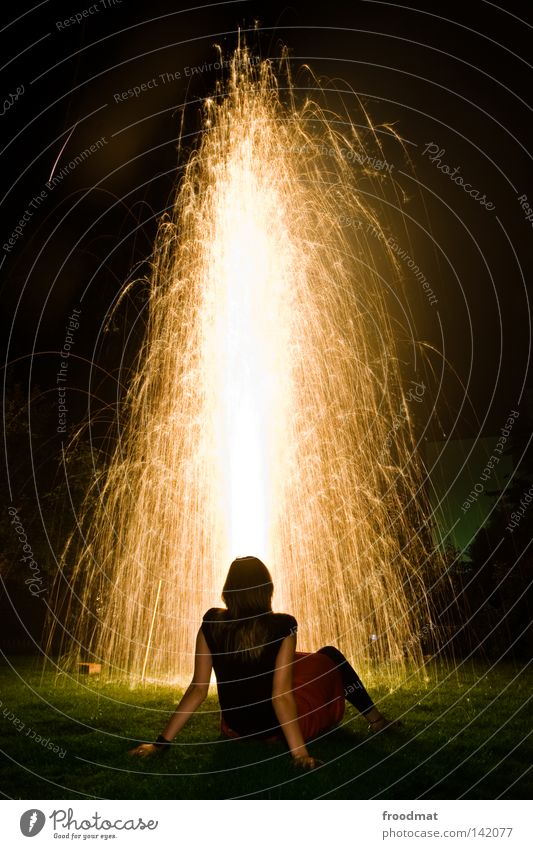 gold maria Explosion Water fountain Fountain Light Goldenchain tree Meadow National Day Switzerland Public Holiday New Year's Eve Exuberance Romance Dream