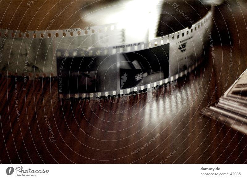 Old White Black Dark Wood Wait Search Paper Table Stripe Good Film Analog Hollow Coil Negative