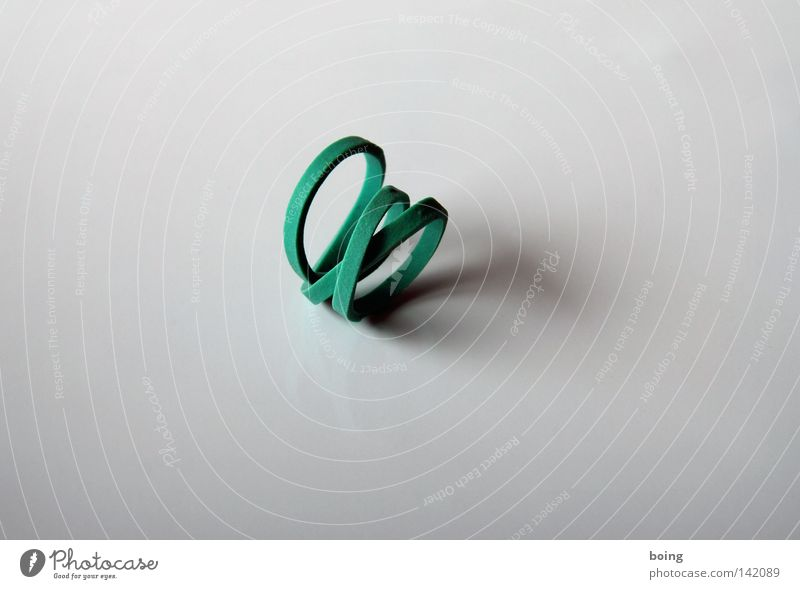 Circle Trust Ring Attachment Spiral Bow Household Rubber Loop Bond Bracelet Roller coaster Elastic band Costume jewelry