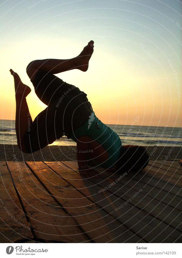 Woman Water Ocean Joy Movement Feet Warmth Elegant Physics Easy Yoga Practice