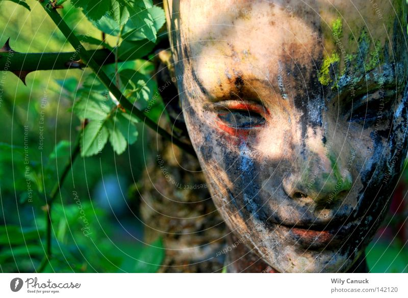 In my garden Mask Garden art Woman Thought Beautiful Sculptor Art Arts and crafts  Shaufenster doll doll face figure