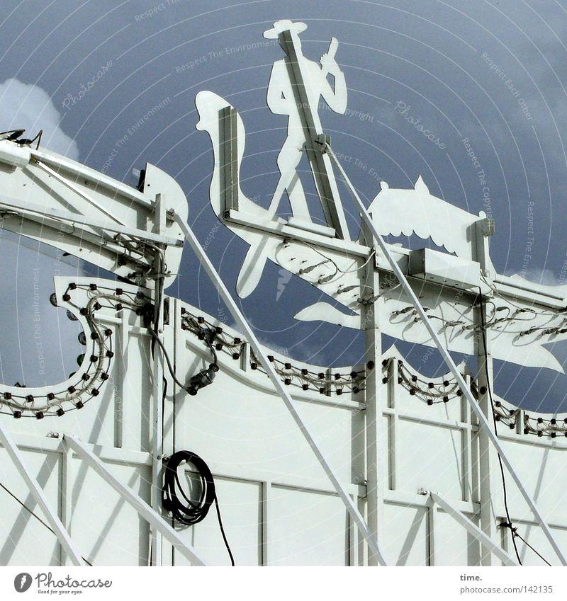 Sky Blue Wood Cable Fairs & Carnivals Construction Rod Set Bracket Gondolier