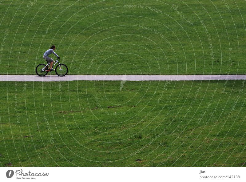 Cyclists on the road Green Relaxation Smoothness Consistent Groomed Lawn Lawnmower Plant Maturing time Round Speed Park Leisure and hobbies Contentment Equal