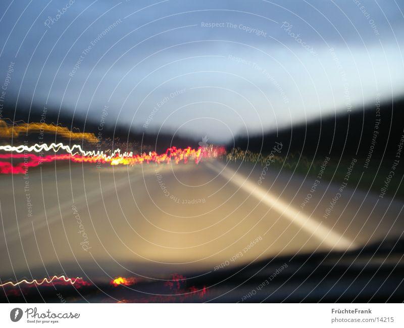 4 seconds motorway Long exposure Highway light waves