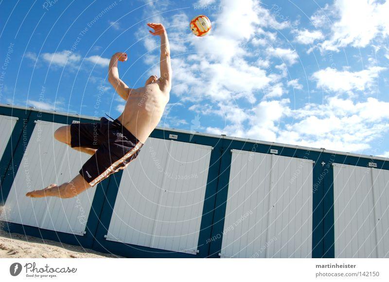 Sky Sun Ocean Summer Joy Beach Vacation & Travel Sports Jump Playing Sand Ball Athletic Throw