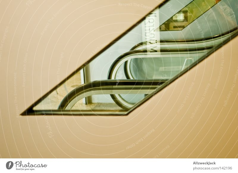 Window Stairs Logistics Clarity Dresden Mirror Under Part Upward Transparent Handrail Downward Banister Vista Section of image Escalator