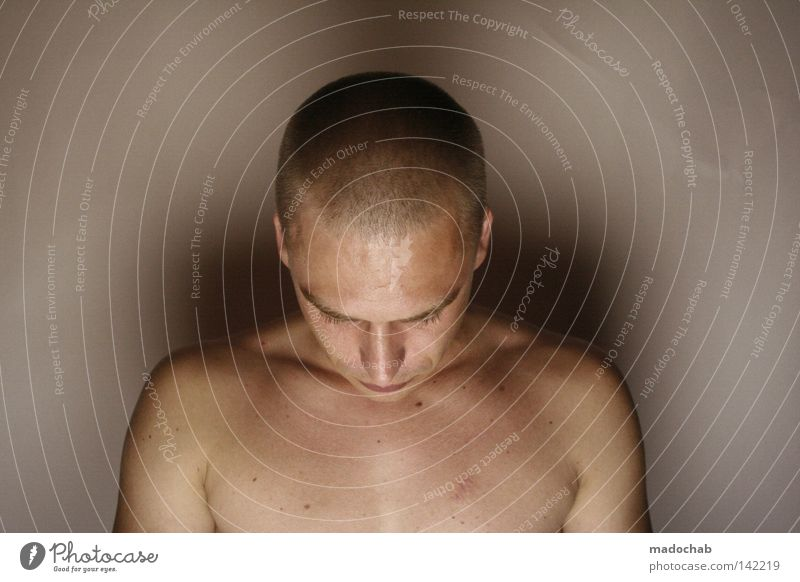 Human being Man Loneliness Calm Face Naked Head Power Arrangement Force Break Transience Wellness Protection Peace Near