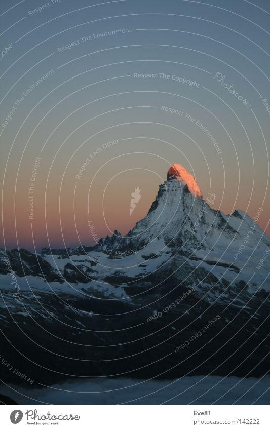 Early Bird at the Matterhorn Snow Switzerland Morning Sunrise Tourism Vacation & Travel Mountain