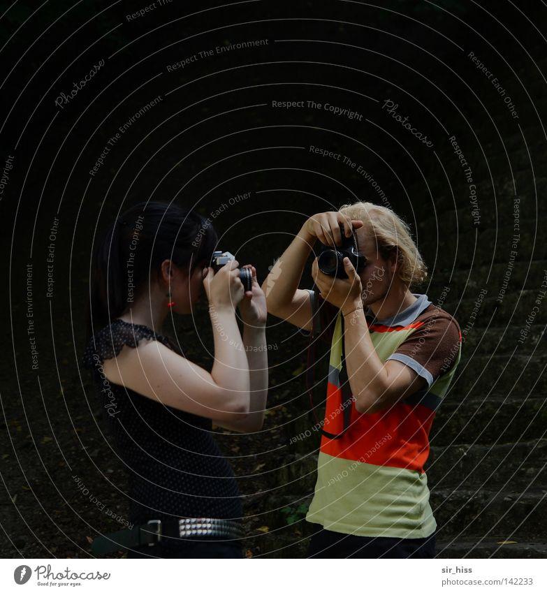 regardez-moi dans les yeux [Weimar 08] Strike Snapshot Illuminate Viewfinder Aperture Analog Rockabilly Photographer Comparison Take a photo Small