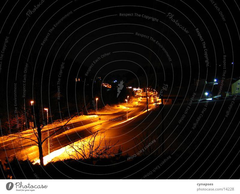 lightway Light Night Long exposure Transport Street