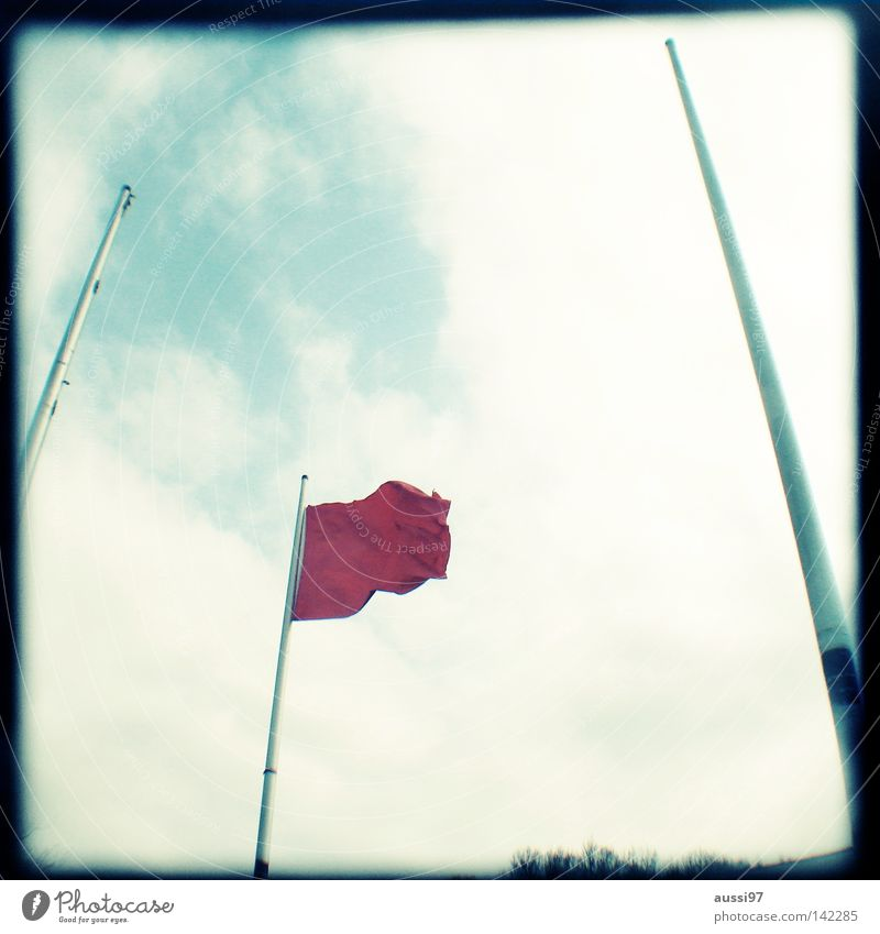 Flag day Flying the flag Red Analog Viewfinder Bordered Frame Signs and labeling Decoration Bad breath national flag flag of the country Wind Blow Lightshaft
