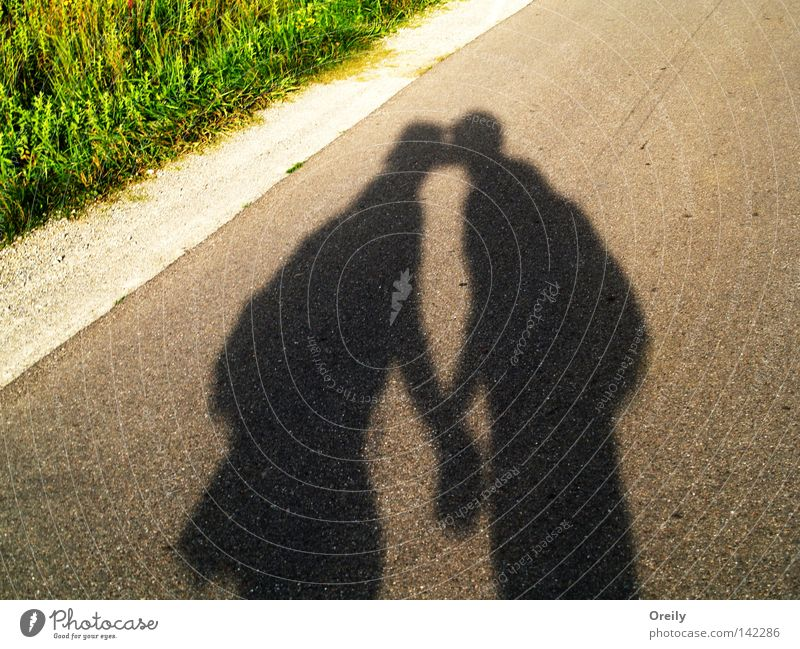 Woman Man Love Street Couple In pairs Kissing Safety (feeling of)