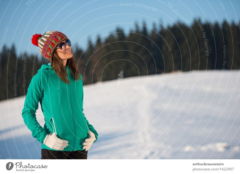 Human being Sky Nature Vacation & Travel Youth (Young adults) Young woman Sun Winter Cold Adults Life Snow Feminine Lifestyle Contentment Tourism