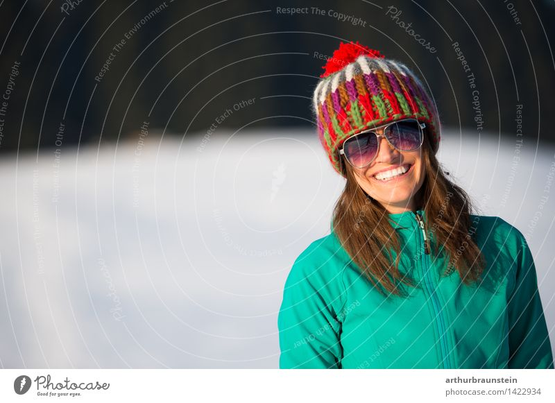 Human being Woman Nature Youth (Young adults) Young woman White Landscape Winter Forest Cold Adults Life Snow Feminine Laughter Lifestyle