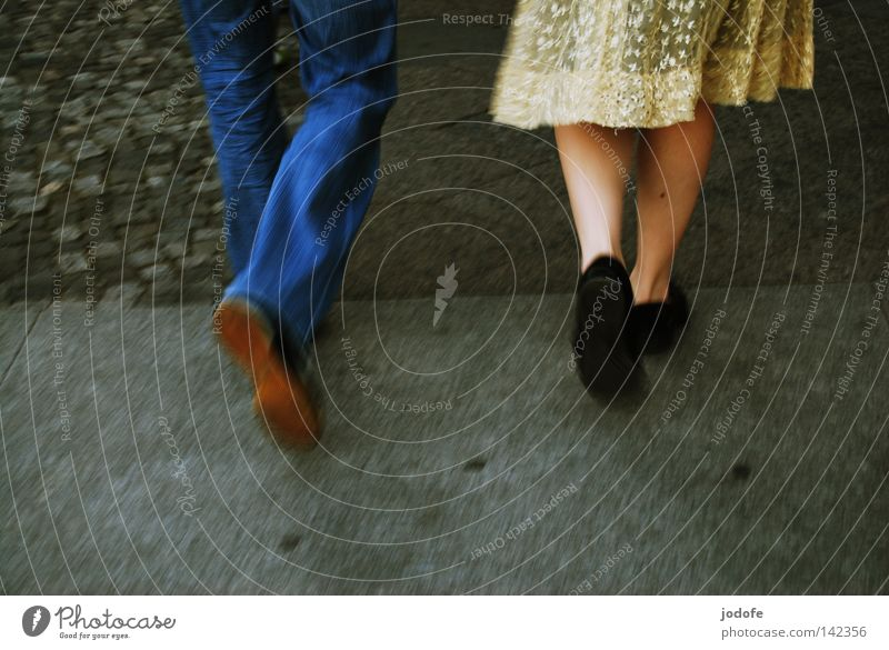Human being Woman Summer Feminine Warmth Movement Happy Legs Couple Together Going Earth Footwear Walking Speed Happiness