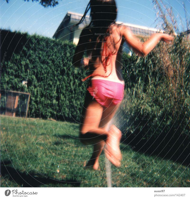 Child Water Vacation & Travel Analog Hose Film Medium format Roll film Summer vacation Garden hose Lawn sprinkler
