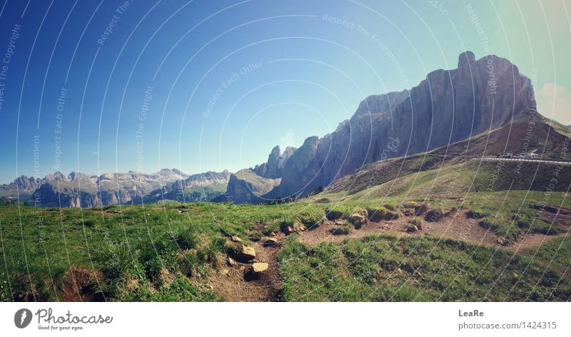 Sella Ronda - view of the mountain massif in the dolomite alps Vacation & Travel Tourism Trip Adventure Far-off places Freedom Cycling tour Summer