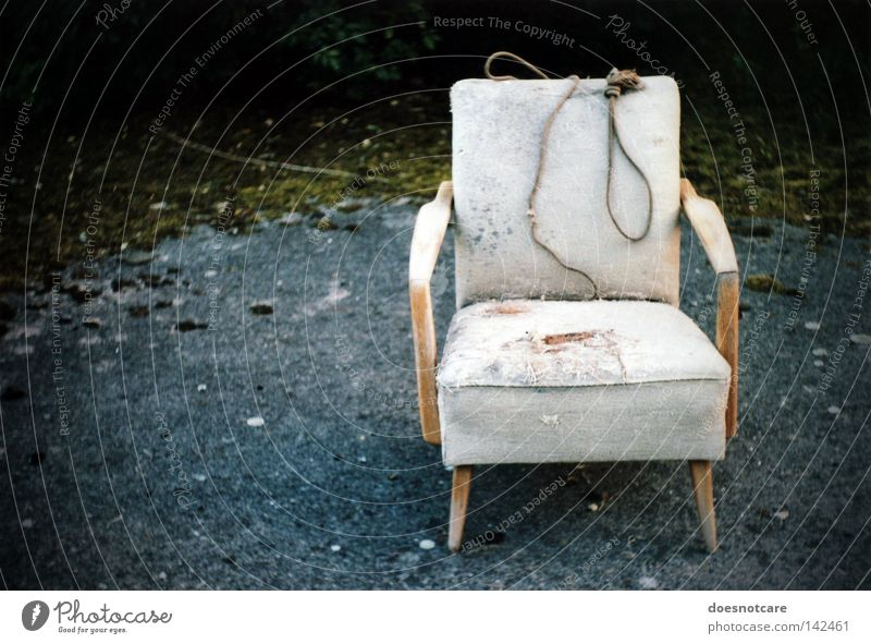 Old Dark Death Dirty Rope Broken Transience Chair Grief End Analog Distress Ancient Armchair Moral Furniture
