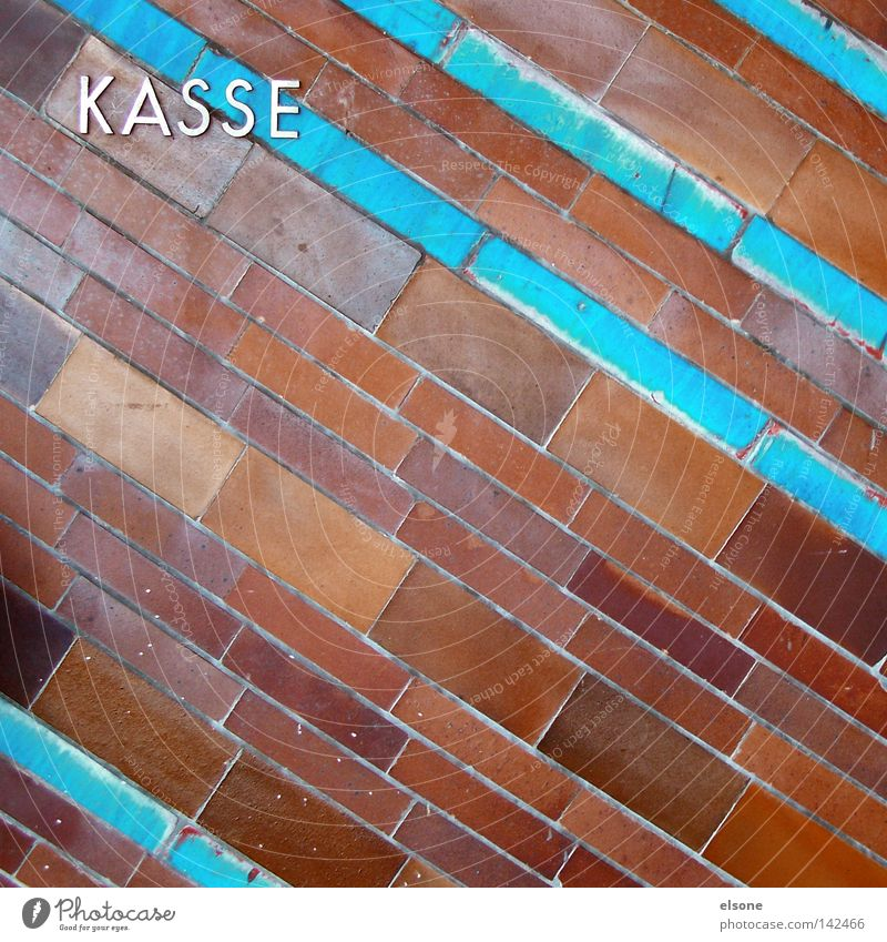 ::KASSE:: Cash register Paying Letters (alphabet) Typography Stone Brick Tile Characters Numbers and numbers