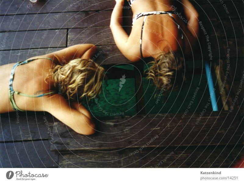 Woman Vacation & Travel Wood Back Fish Bikini Thailand