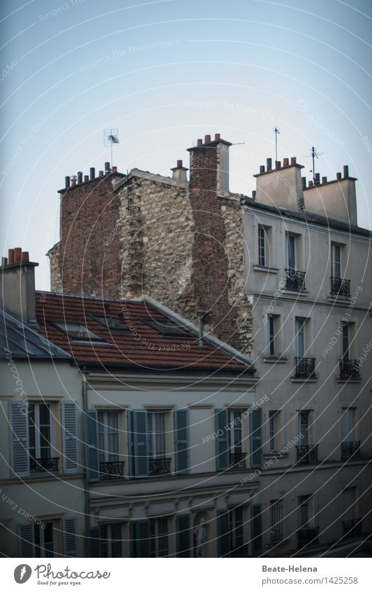Light and shadow Living or residing Flat (apartment) House (Residential Structure) Sculpture Paris Wall (barrier) Wall (building) Facade Fireside Window Roof