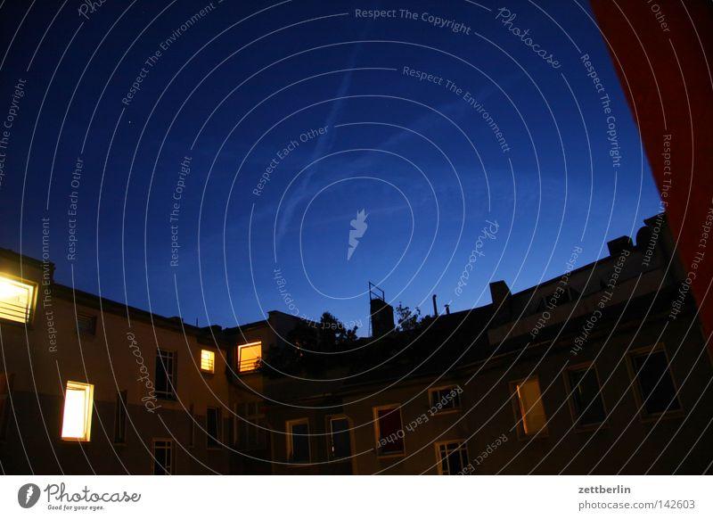 Ahms Evening Night Night sky Backyard House (Residential Structure) Vapor trail Aurora Borealis Gastronomy Dusk