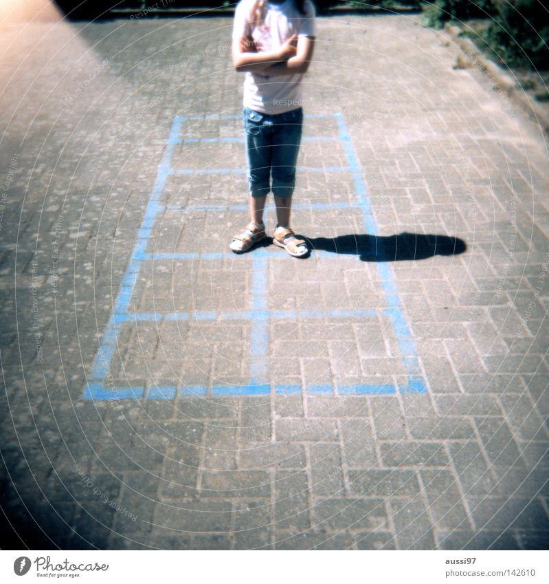Summer Movement Playing Feet Break Analog Education Playground Gymnastics Shaft of light Medium format Schoolyard Holga Light leak Roll film Play instinct